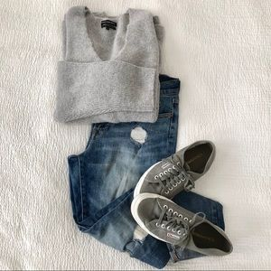 Sale✨ Something Navy Low Neckline Slouchy Pullover